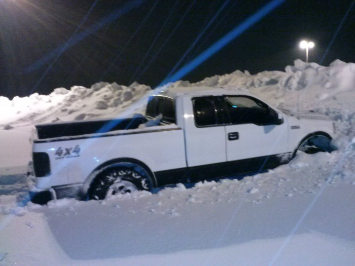 Truck stuck in snow